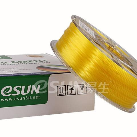 Фото нити для 3D принтера eSUN 3D FILAMENT PLA Glass Lemon Yellow 1.75 мм 2