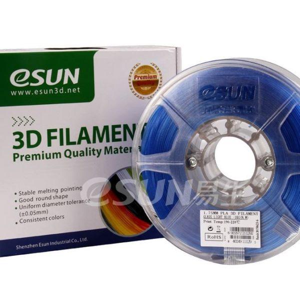 Фото нити для 3D принтера eSUN 3D FILAMENT PLA Glass Light Blue 1.75 мм 1