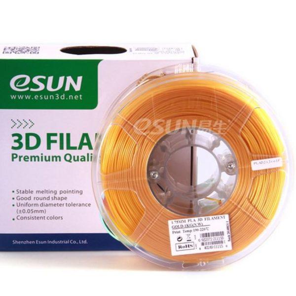 Фото нити для 3D принтера eSUN 3D FILAMENT PLA GOLD 1.75 мм 1