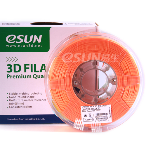 Фото нити для 3D принтера eSUN 3D FILAMENT PLA ORANGE 1.75 мм 1