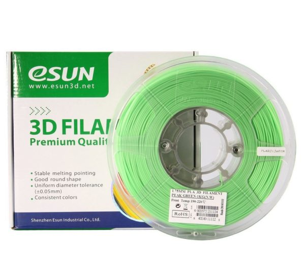 Фото нити для 3D принтера eSUN 3D FILAMENT PLA PEAK GREEN 1.75 мм 1