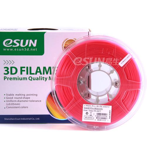 Фото нити для 3D принтера eSUN 3D FILAMENT PLA PINK 1.75 мм 1
