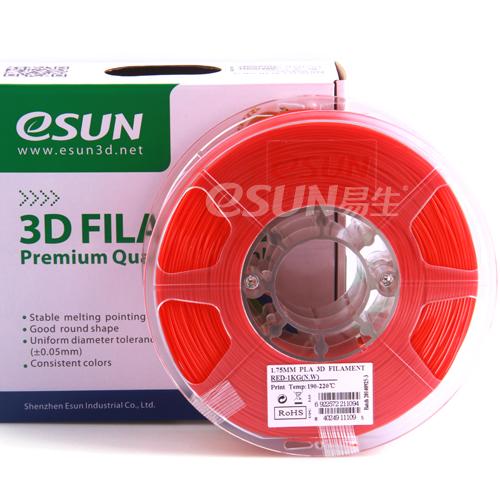 Фото нити для 3D принтера eSUN 3D FILAMENT PLA RED 1.75 мм 1