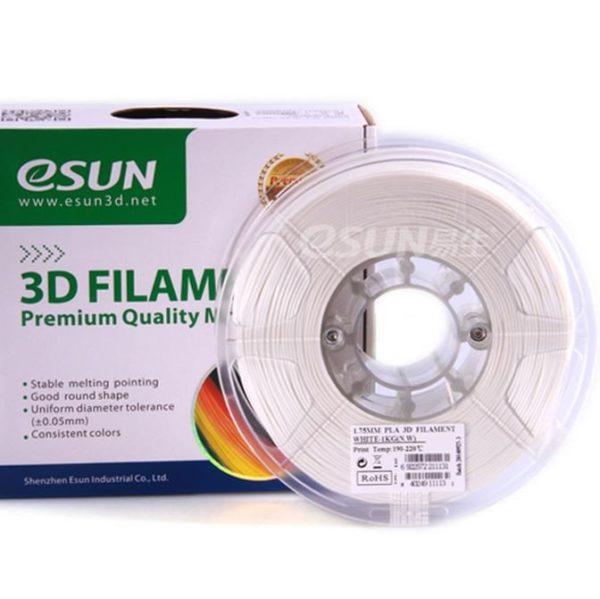 Фото нити для 3D принтера eSUN 3D FILAMENT PLA WHITE 1.75 мм 1