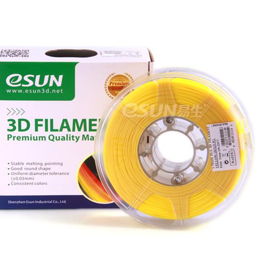 Фото нити для 3D принтера eSUN 3D FILAMENT PLA YELLOW 1.75 мм 1