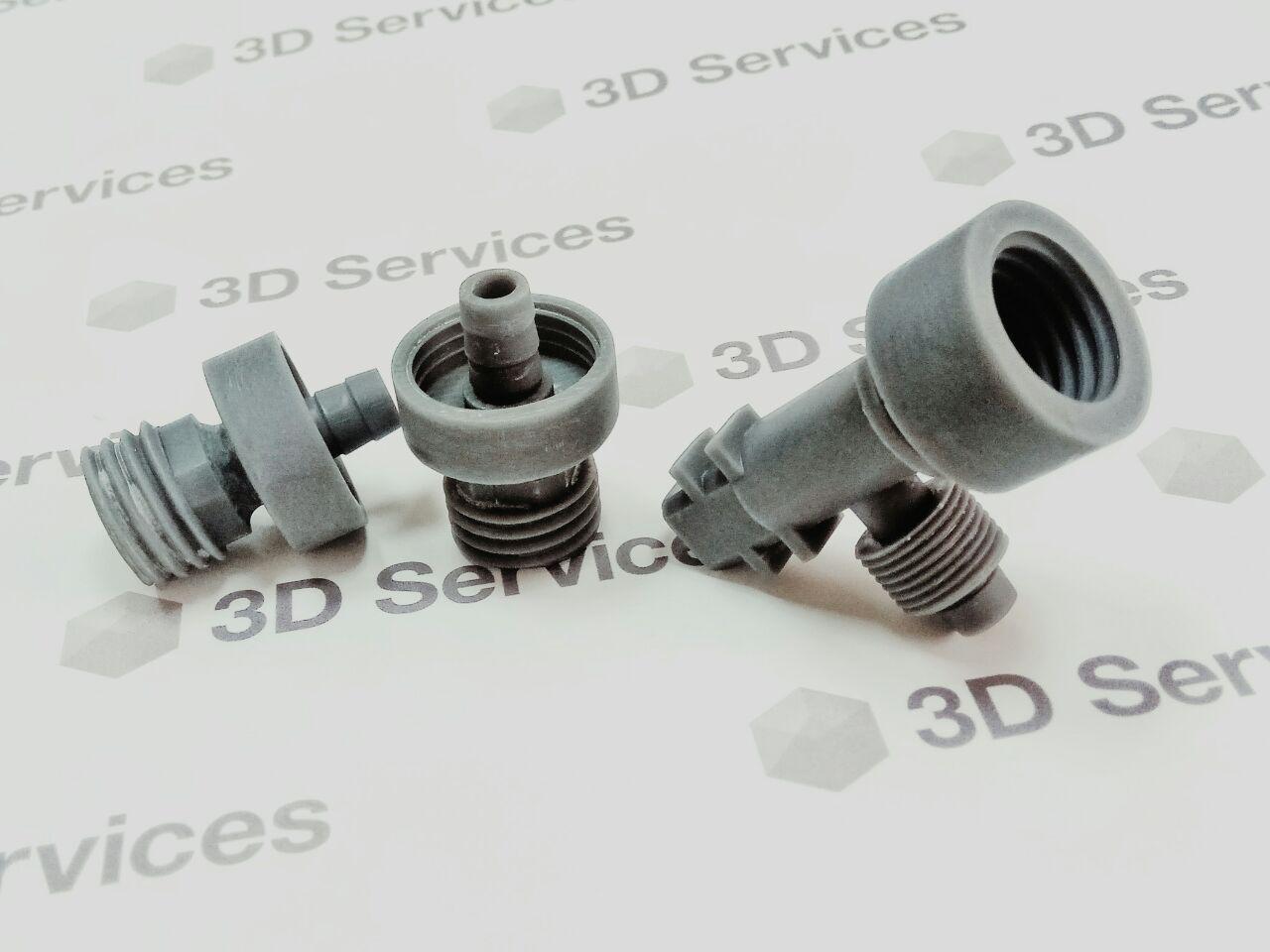 Фото Печать фитингов из фотополимера на Formlabs