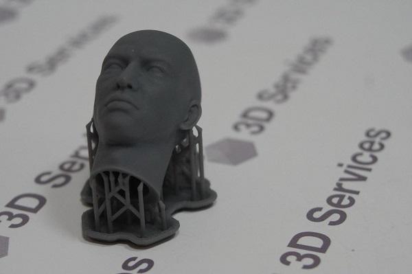 Фото 3D печать головы куклы