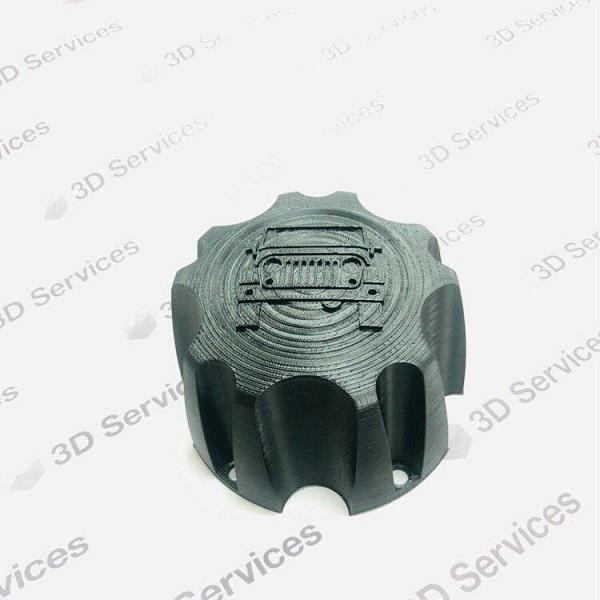 Фото 3D печать колпачка-крышки для автомобильного диска