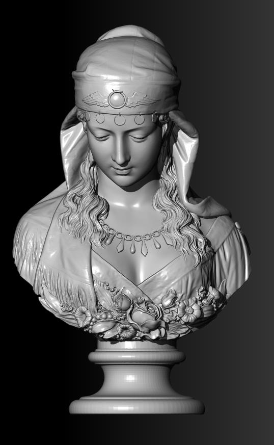 Фото 3D моделирование бюста 2