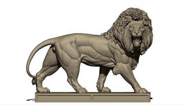 Фото 3D моделирование фигурки льва