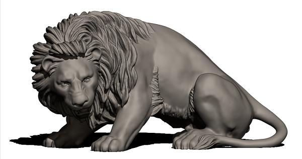 Фото 3D моделирование фигурки льва 2