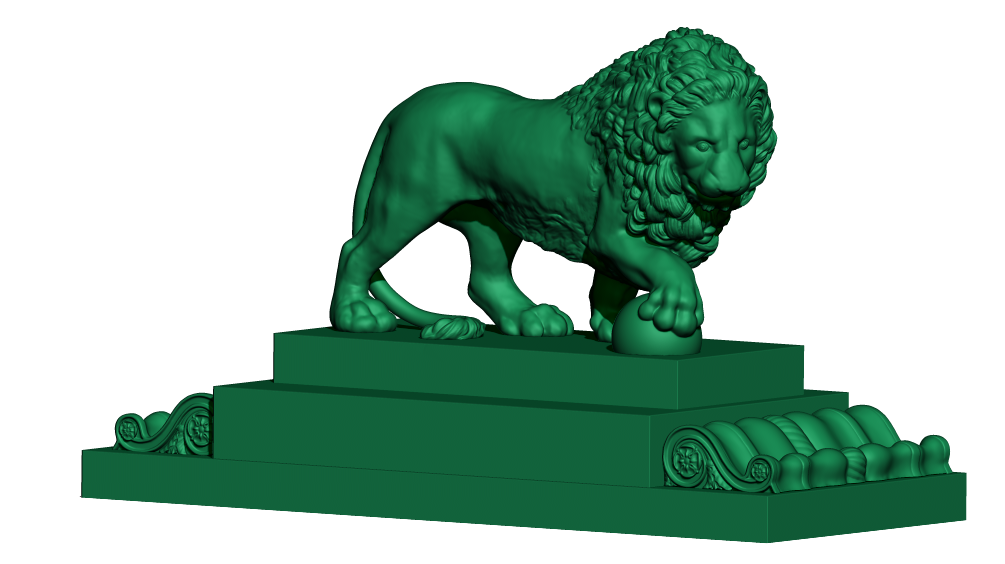 Фото 3D моделирование фигурки льва 3