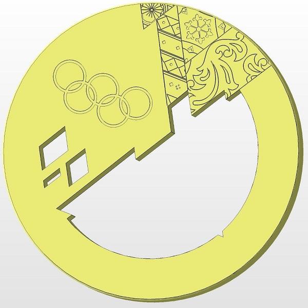 Фото 3D моделирование медали 2