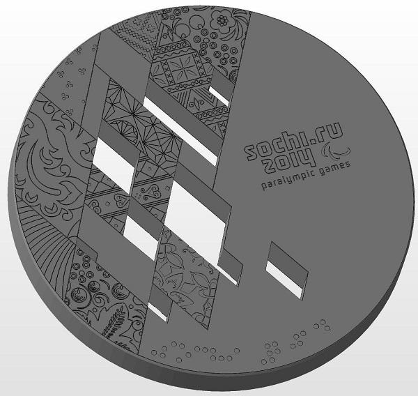 Фото 3D моделирование медали 3
