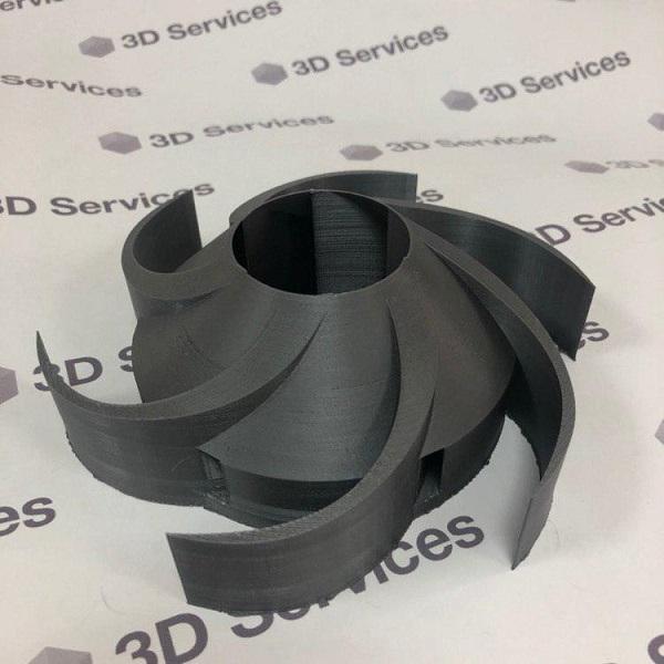 Фото 3D-печать крыльчатки из пластика PETG