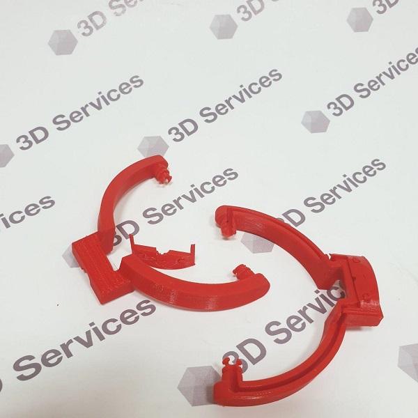3D печать деталей из красного PLA пластика