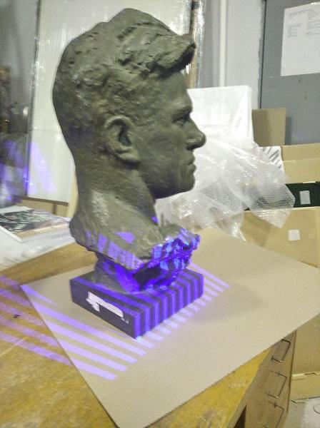 3D сканирование бюста Владимира Маяковского 4