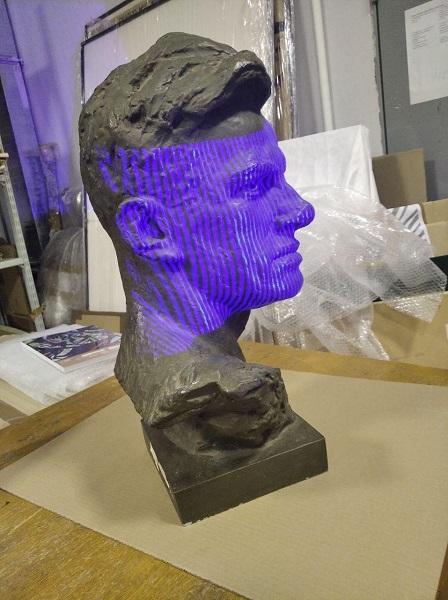 3D сканирование бюста Владимира Маяковского 5