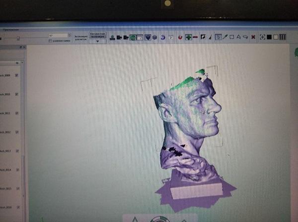 3D сканирование бюста Владимира Маяковского 6