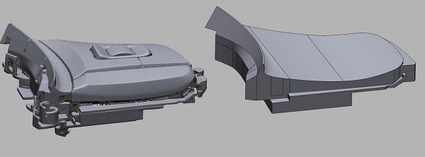 3D сканирование элементов управления на руле 4