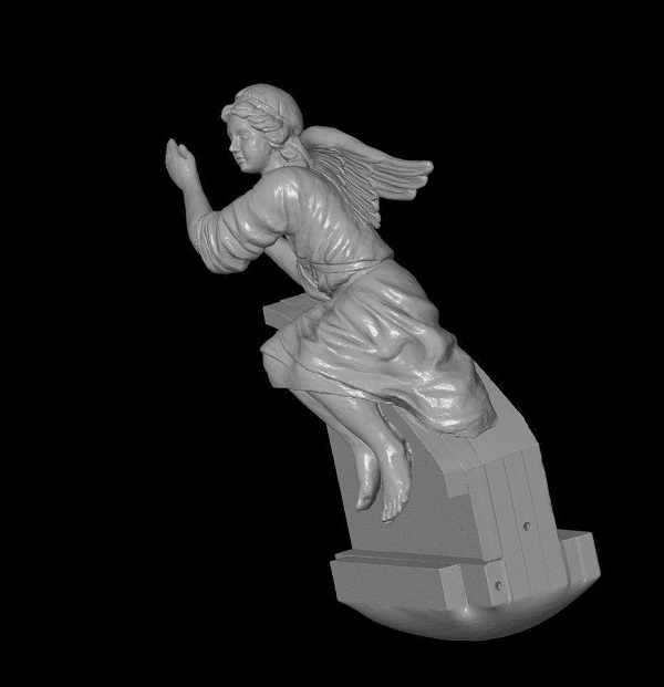 3D сканирование фигурки ангела 1