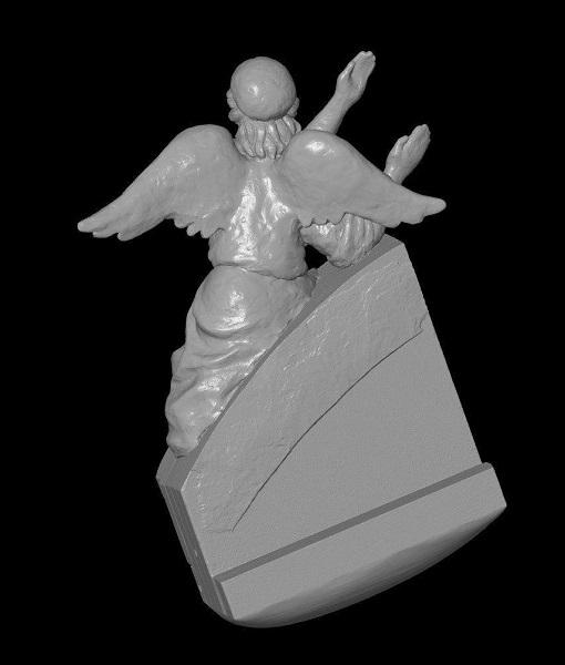 3D сканирование фигурки ангела 4