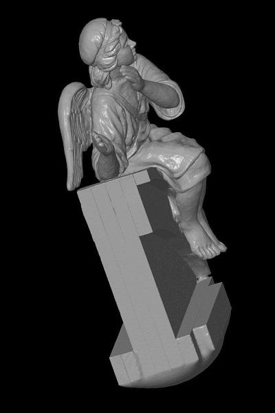 3D сканирование фигурки ангела 5