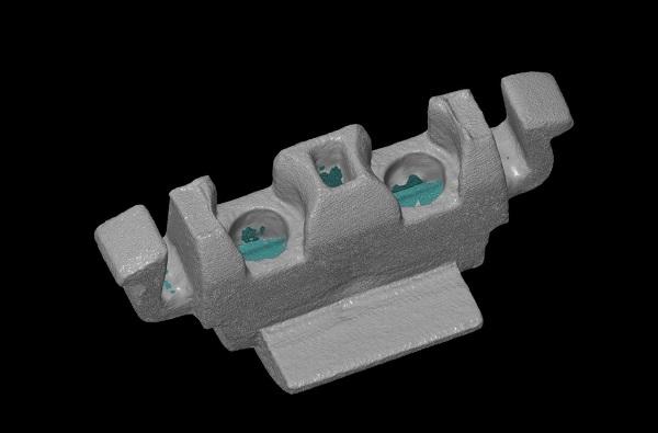 3D сканирование заглушки аккумулятора 3