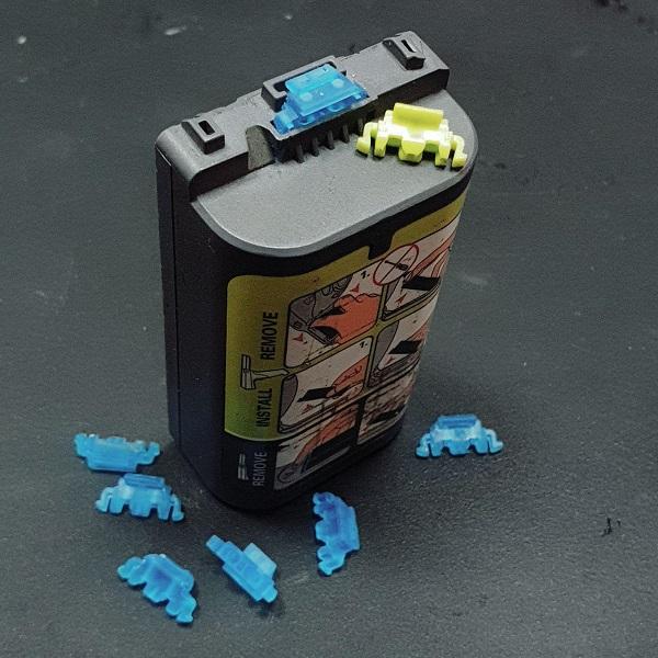 3D сканирование заглушки аккумулятора 5