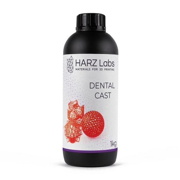 Фото фотополимера HARZ Labs Dental Cast LCD/DLP 1 л красный 1