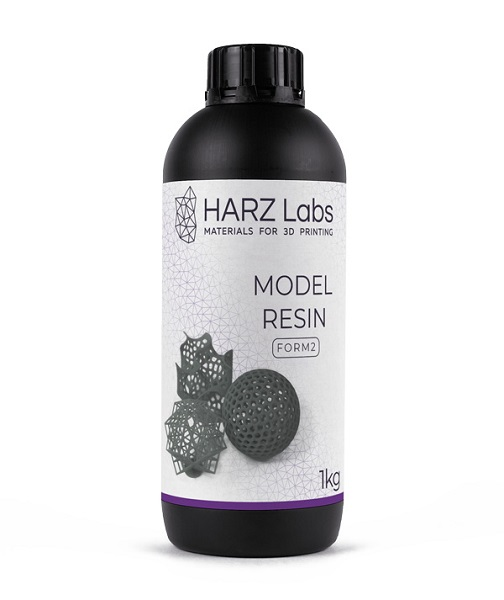 Фото фотополимера HARZ Labs Model SLA 1 л серый