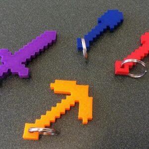 Фото 3D-печать моделей из игры Minecraft 2