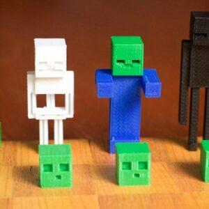 Фото 3D-печать моделей из игры Minecraft 8