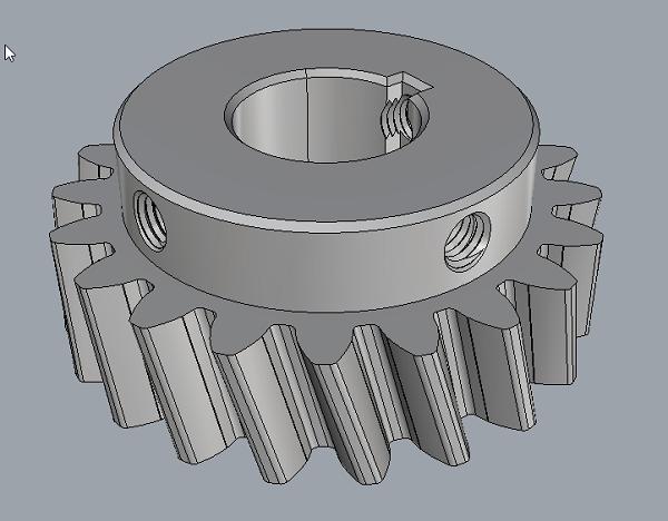 Фото 3D моделирование шестеренки 2