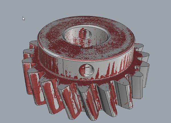 Фото 3D моделирование шестеренки 3