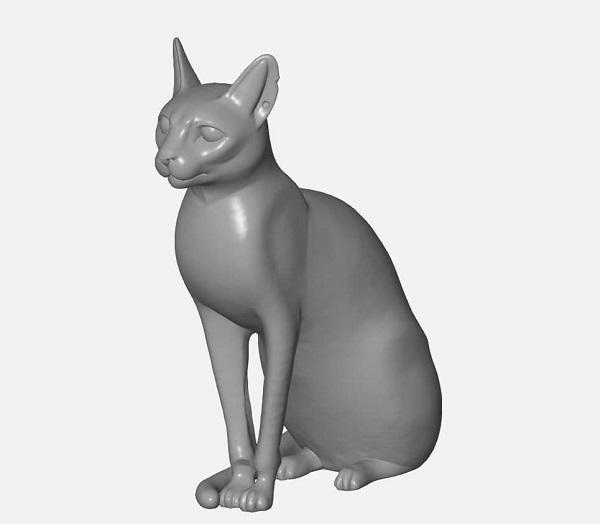 Фото 3D печать фигурки кошки из пластика 3