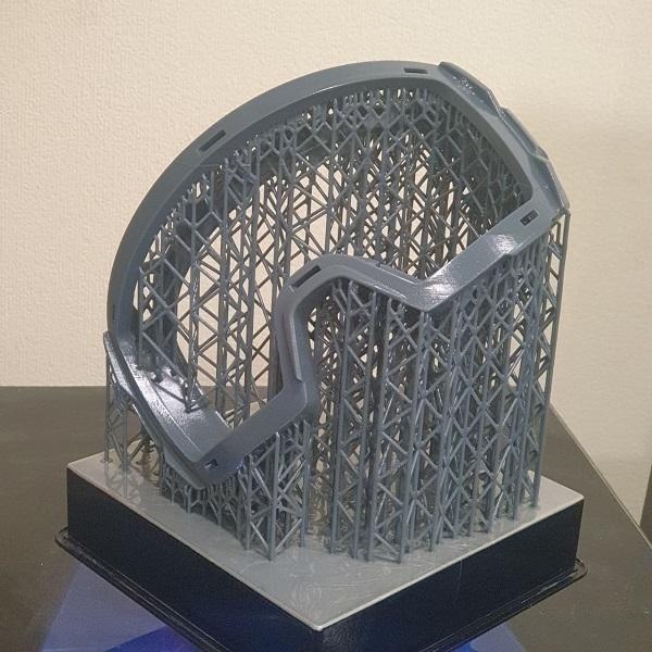 Фото 3D печать защитной маски из пластика 1